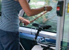 Mit dem Fahrrad im Zug © NEB/L. Ganssmann