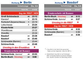 veränderter Fahrplan der RB27