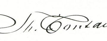 Signatur Fontanes