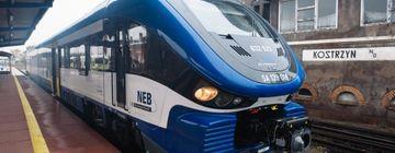 Pesa Link der NEB am Bahnhof Kostrzyn (PL)