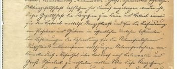 Konzessionsurkunde von 1900
