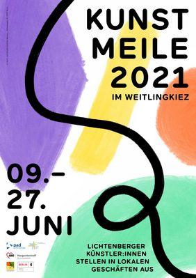 Plakat Kunstmeile Weitlingkiez 2021