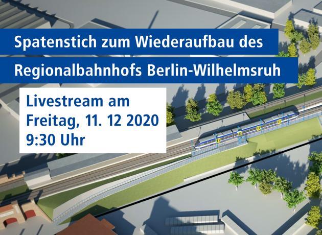Link zum Livestream Spatenstich Wilhelmsruh 11.12.2020