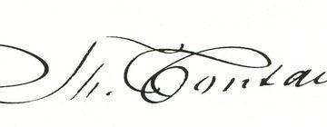 Die Signatur Fontanes