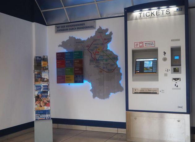 Fahrkartenautomat der NEB