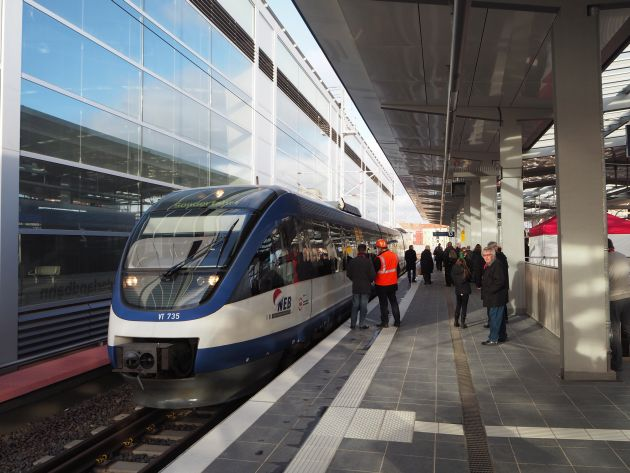 Ostkreuz - Sonderfahrt zur Eröffnung des Regionalbahnsteigs